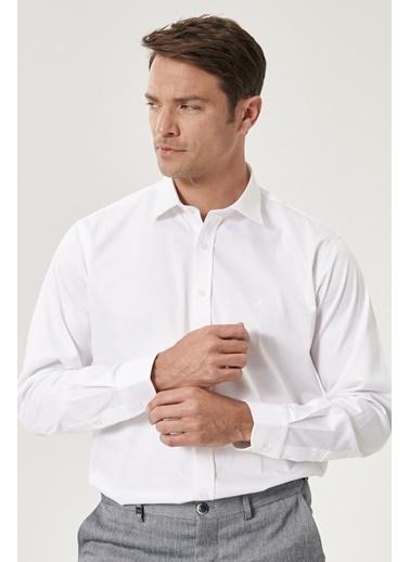 Beymen Business 4B2000000013 Beyaz Regular Fit Gömlek Saten Beyaz